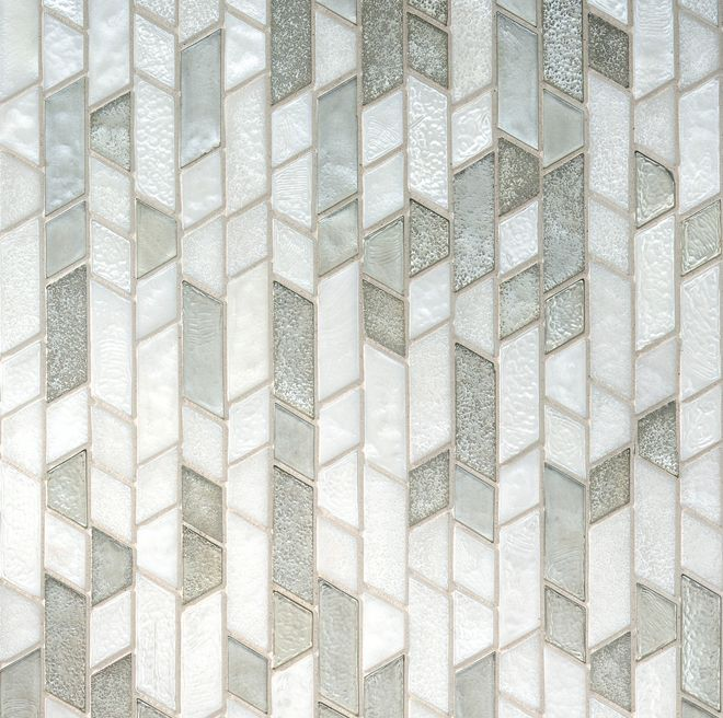 Mu172 Oceanside Muse Mosaic Geometric Linear Offset Glass Tile