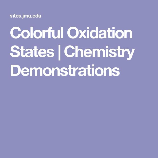 Colorful Oxidation States | Chemistry Demonstrations