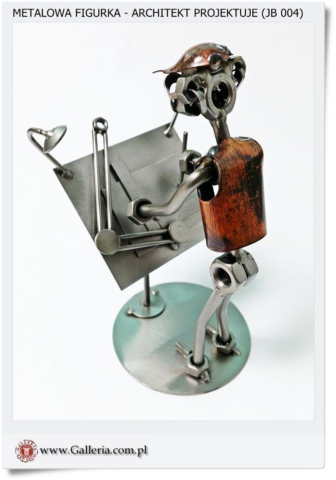 Architekt - Projektant Metalowa figurka polskiego rzemiosła