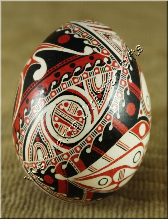 Ukrainian Easter Pysanka Hen Egg - Trypillyan Style