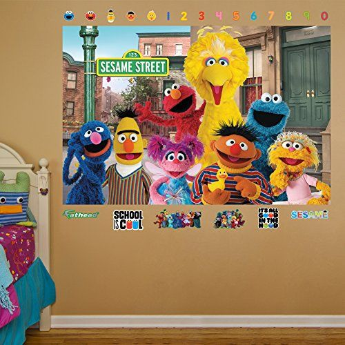 Fathead Sesame Street Group Mural Real Big Wall Decals *** Details Can Be  Found Part 13