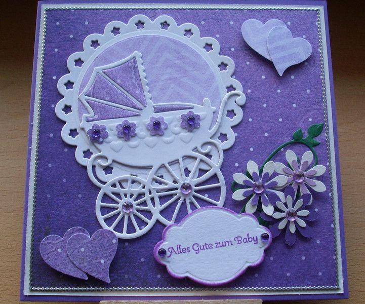 Glückwunschkarte Alles gute zum Baby von Wollzottel auf DaWanda.com
