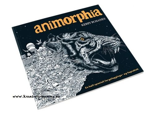 BOK - FARGELEGGING - ANIMORPHIA - HARDCOVER Kreativ fargeleggingsbok for voksne. Inspirerende for barn.- En kunst aktivitet som får deg til å både slappe av og til å bli inspirert.