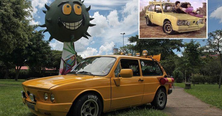 Brasília amarela dos Mamonas vira sucata e família de Dinho recria carro