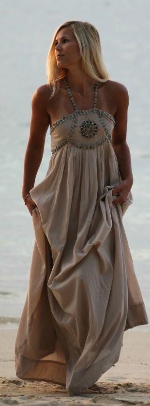 Blush Embellished Maxi Dress by Natulia