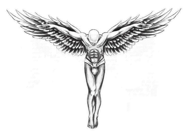 Angel Winged M Tattoo Design Angel Design