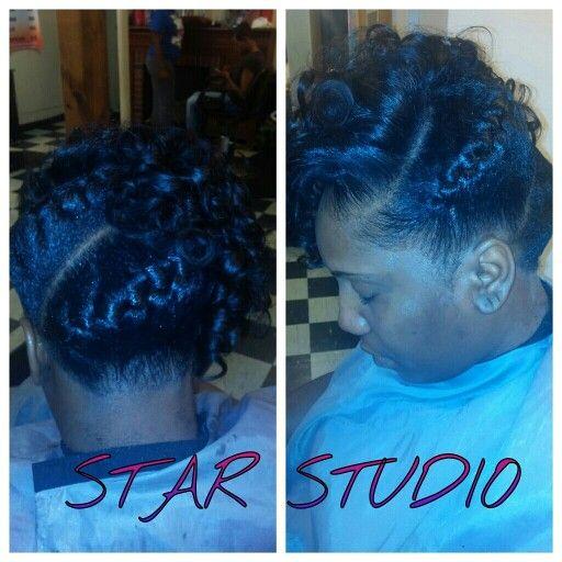Goddess braids with curls suchabeauty_shebad Pinterest - Girl Hairstyles Braids