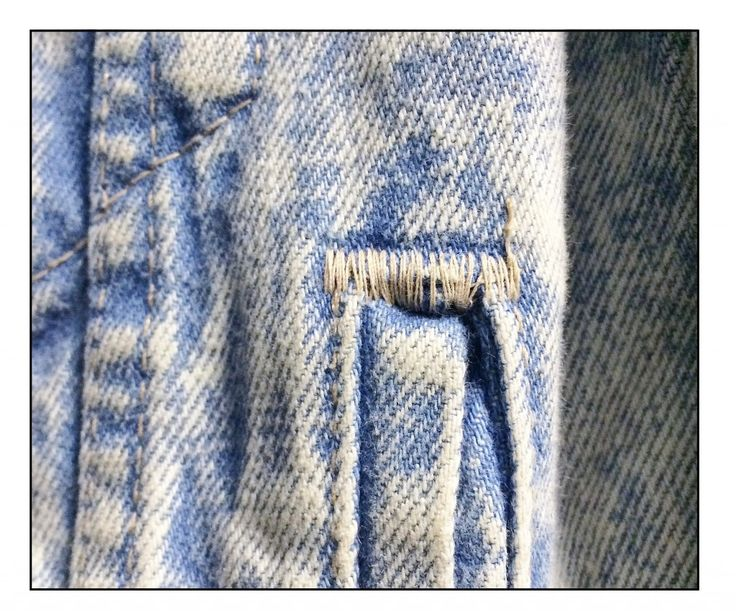 bar tack stitch denim | stitchinggg