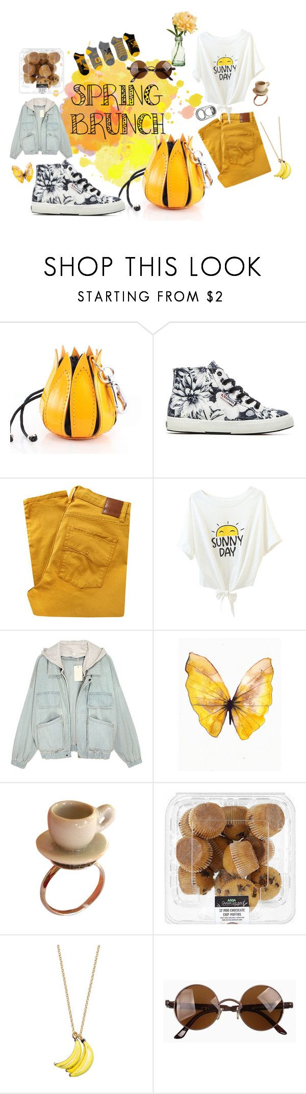 """""""Brunch"""" by pantherinae on Polyvore featuring Superga, Nobody Denim, Kate Spade, Peony, Spring, contest, brunch, contestentry and LionsLook"""