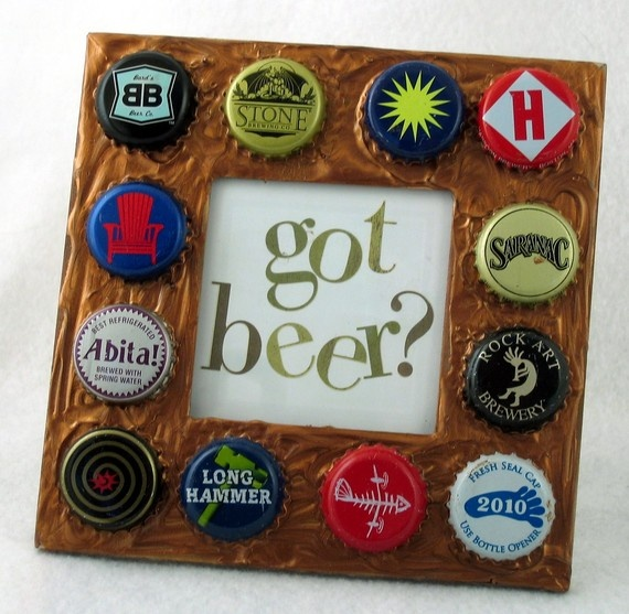 166 best bottler caps images on pinterest bottle caps for Beer bottle picture frame
