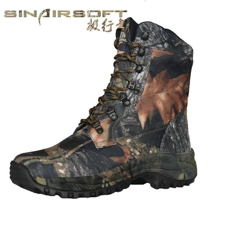 Outdoor Hiking Trekking shoes Man Waterproof Mountain boots Camo Hunting Camouflage Oxford Fabric Leather Hiking Boots TA2-002