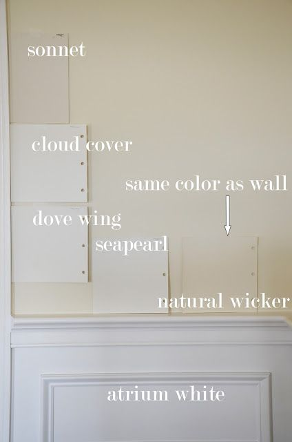 Benjamin Moore Shades Sonnet Hmm Cloud Cover Dove Wing Seapearl Natural Wicker Hmm