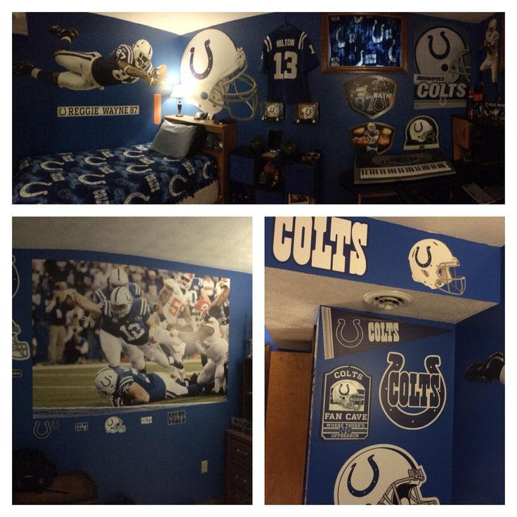 Top 25 ideas about colts fan caves on pinterest for Colts bedroom ideas
