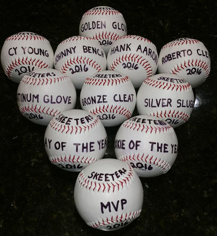 I don't agree with participation trophies so I made these Baseball Awards that I felt each kid deserved. When I handed them out, I explained what they meant and how it applied during the season. #kidsawards #baseballideas #kidstrophies