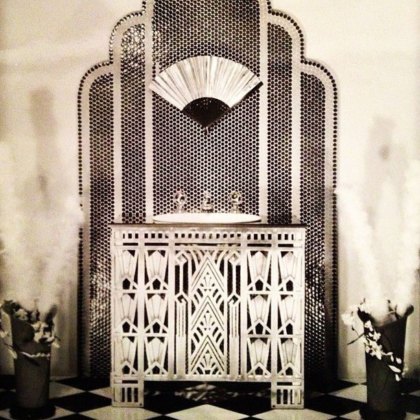 French Art Deco, kept from tipping over the top by the monochrome scheme.