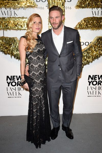 Julian Edelman Photos Photos - Ella Blum (L) and NFL football player Julian Edelman attend the Dockers x CFDA NYFWM Opening Party during New York Fashion Week Men's Fall/Winter 2016 at ArtBeam on February 1, 2016 in New York City. - Dockers x CFDA NYFWM Opening Party - New York Fashion Week Men's Fall/Winter 2016 - Opening Event