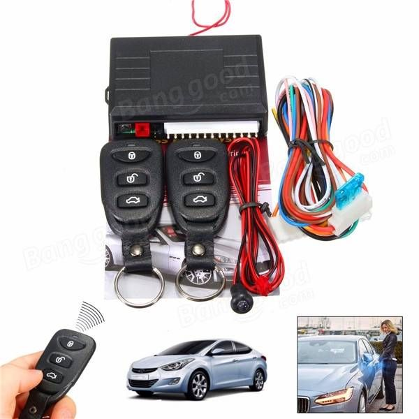 LB-405 Universal Car Vehicle Remote Central Door Lock Keyless Entry System Security Kit