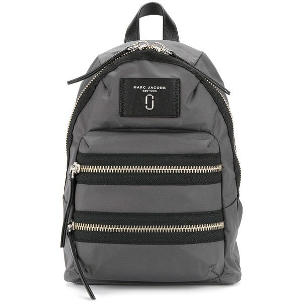 Marc Jacobs Biker mini backpack (170 CHF) ❤ liked on Polyvore featuring bags, backpacks, grey, mini rucksack, genuine leather backpack, leather daypack, miniature backpack and day pack backpack