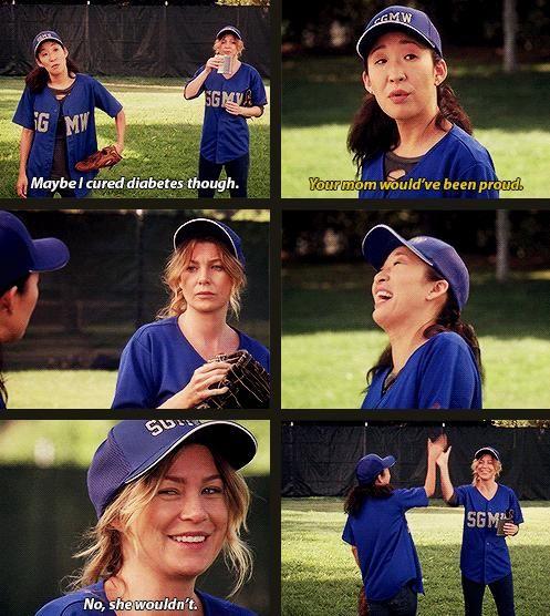 Greys Anatomy - Christina Yang - Sandra Oh - Meredith Grey - Ellen Pompeo - Twisted Sisters #GreysAnatomy