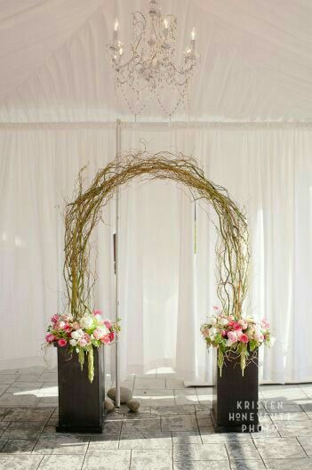 simple backdrop and arch