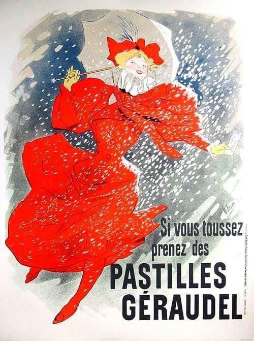 """Pastilles Géraudel"" (1896) - French advertising poster by Jules Chéret (1836-1932)"