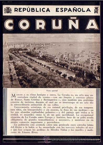 Circa 1930 LA CORUÑA folleto turistico Epoca de la REPUBLICA Fotos