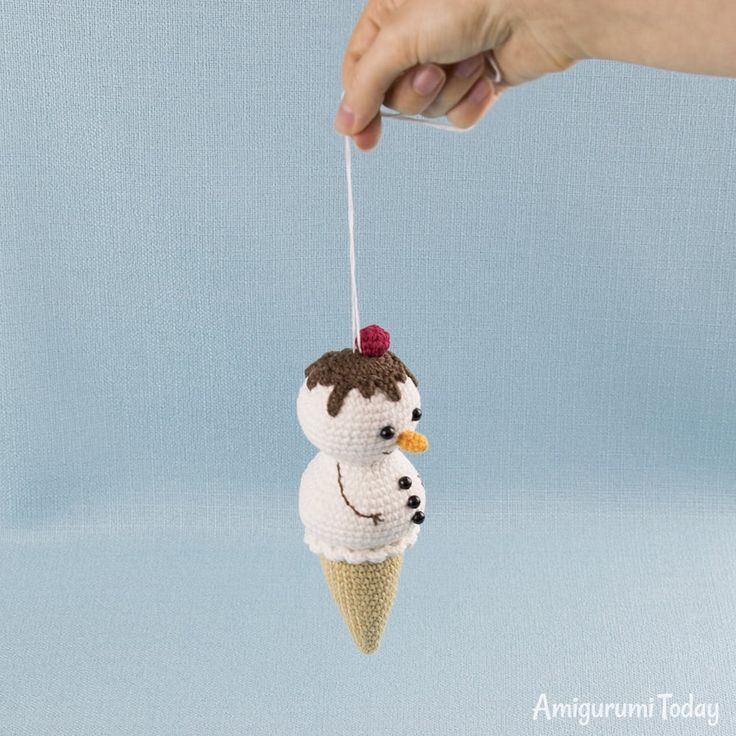 Free Ice Cream Snowman crochet pattern