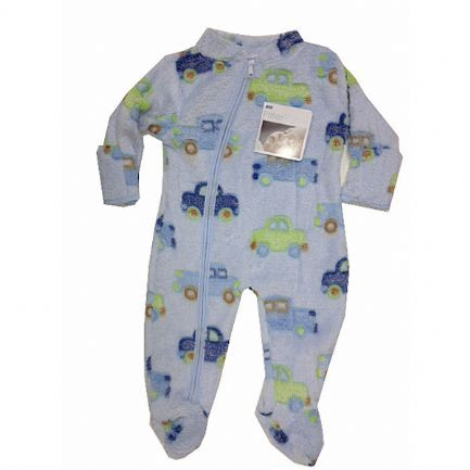 Cute and snuggly fleece cover up. Sky blue with car design pattern. This is a great cover up for the spring time. Soft and very comfortable it is useful for wearing in the pram or push chair, car seat and for layering. Ages 0 - 3 months, 6 - 9 months.
