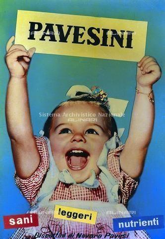 Manifesto pubblicitario dei biscotti Pavesini prodotti dalla ditta Pavesi, Novara 1960 ca.