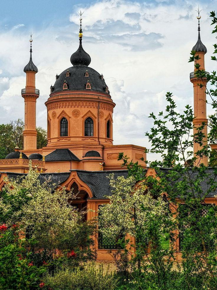 The Red Mosque at Schwetzingen Castle garden in #Germany #travel by pingallery.deviantart.com