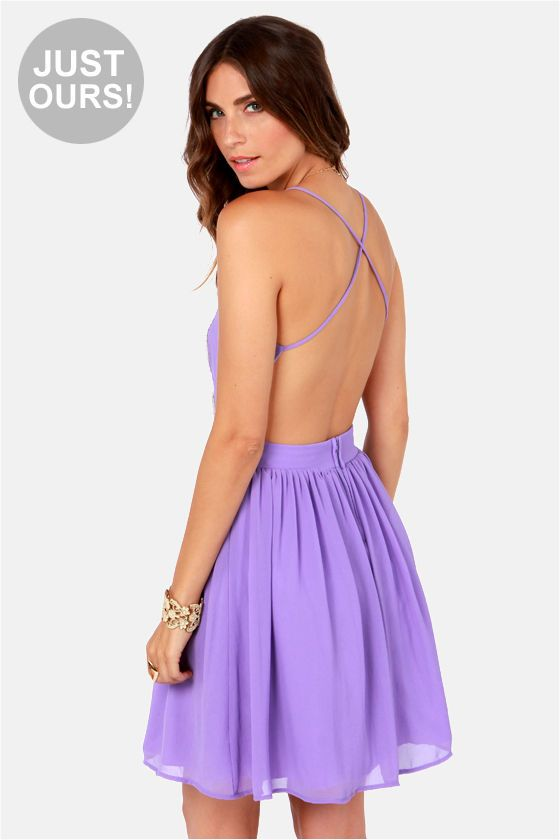 Backless Lavender Lace Dress Get 7% Cash Back http://www.studentrate.com/itp/get-itp-student-deals/lulu-s-Student-Discount--/0