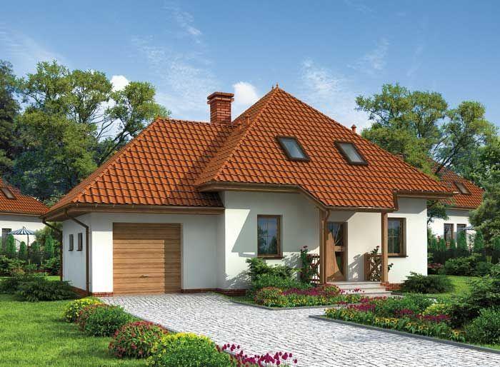 Projekt domu PT Porto SZKIELET DREWNIANY - DOM PT4-32 - gotowy projekt domu
