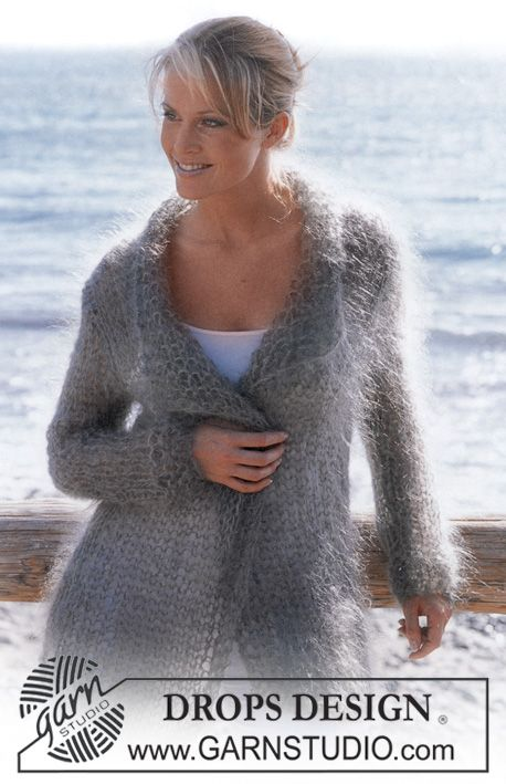 DROPS Cardigan in Vienna. ~ DROPS Design  Working on this now. The size 19 needles are huge!