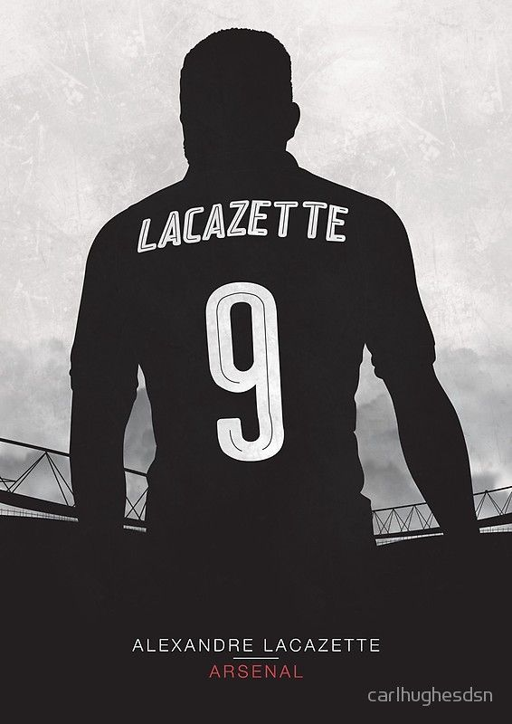 Lacazette - Arsenal FC Illustration