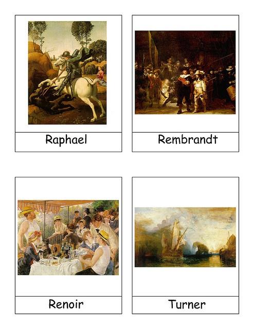 kunst kaarten - leuk werkje