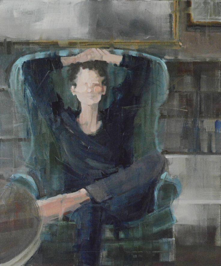 """Saatchi Art Artist: Fanny Nushka Moreaux; Oil 2014 Painting """"Green Velvet, 2014"""""""