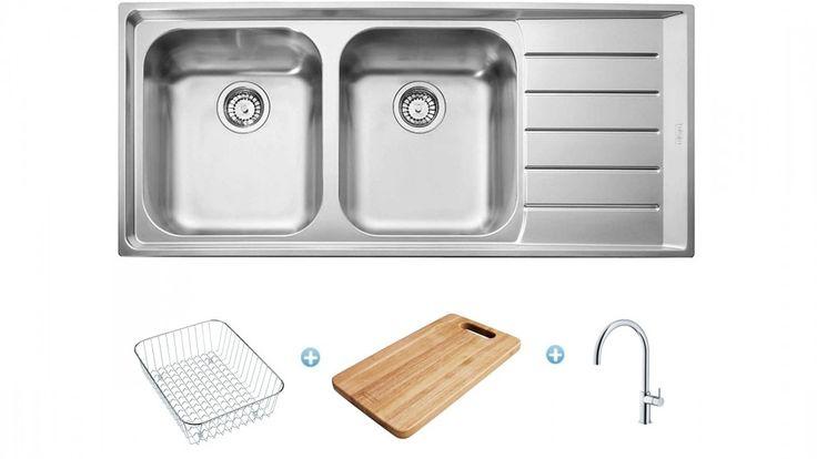 Franke Sinks Australia : Franke Neptune Sink and Tap Package - Right Hand Drainer - Sinks ...