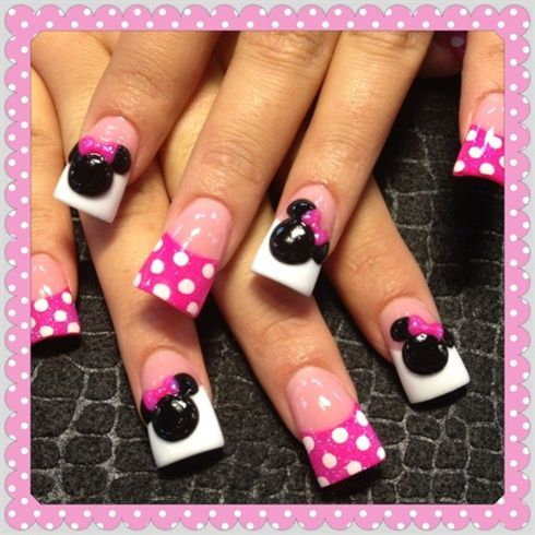 3d minnie by Oli123 - Nail Art Gallery nailartgallery.nailsmag.com by Nails Magazine www.nailsmag.com #nailart