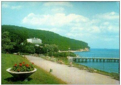 Gdynia Orłowo. Nad brzegiem morza. Fot. J. Uklejewski Wyd. Biuro Wydawnicze RUCH 1972