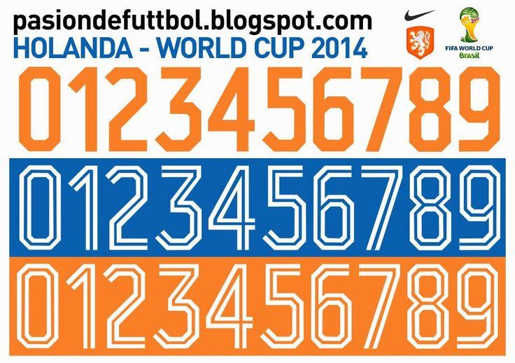 Diseños, Vectores y Templates para Camisetas de Futbol: HOLANDA NETHERLANDS NUMERACION VECTOR