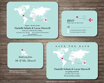 Bestemming bruiloft uitnodiging printables door DallinsPaperie