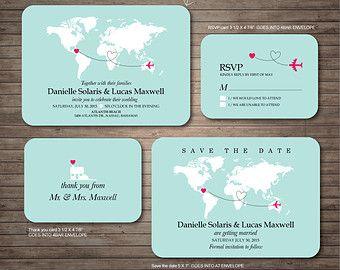 Destination Wedding Invitation printables beach by DallinsPaperie