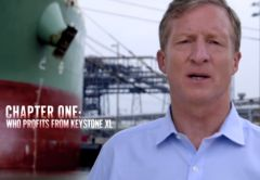 BILLIONAIRE Tom Steyer turning his ANTI-KEYSTONE OFFENSIVE INTO AN ALL-OUT CLIMATE CRUSADE FOR 2014.(Steyer specifically took it upon himself to create a self-funded, serial ad campaign of ultra-lame, ULTRA-DECEITFUL TV spots to try and convince the masses that the Keystone XL pipeline somehow isn't in America's best interest (a feat of misinformation on which even WaPo's FACT CHECKER CALLED HIM OUT WITH FOUR PINOCCHINOS)