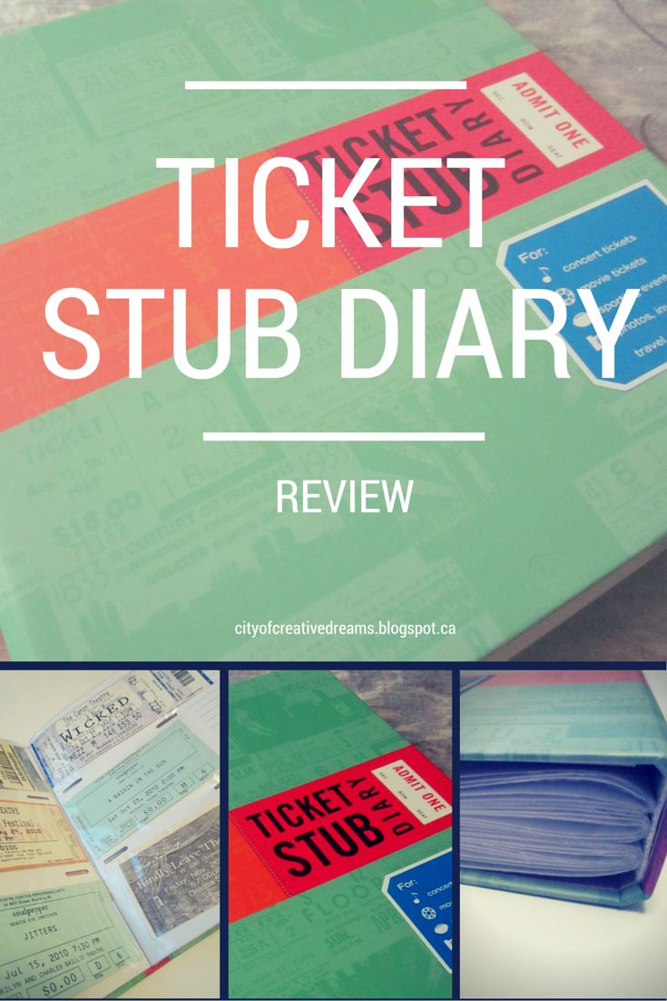 Ticket Stub Diary Review  #ProductReviewParty