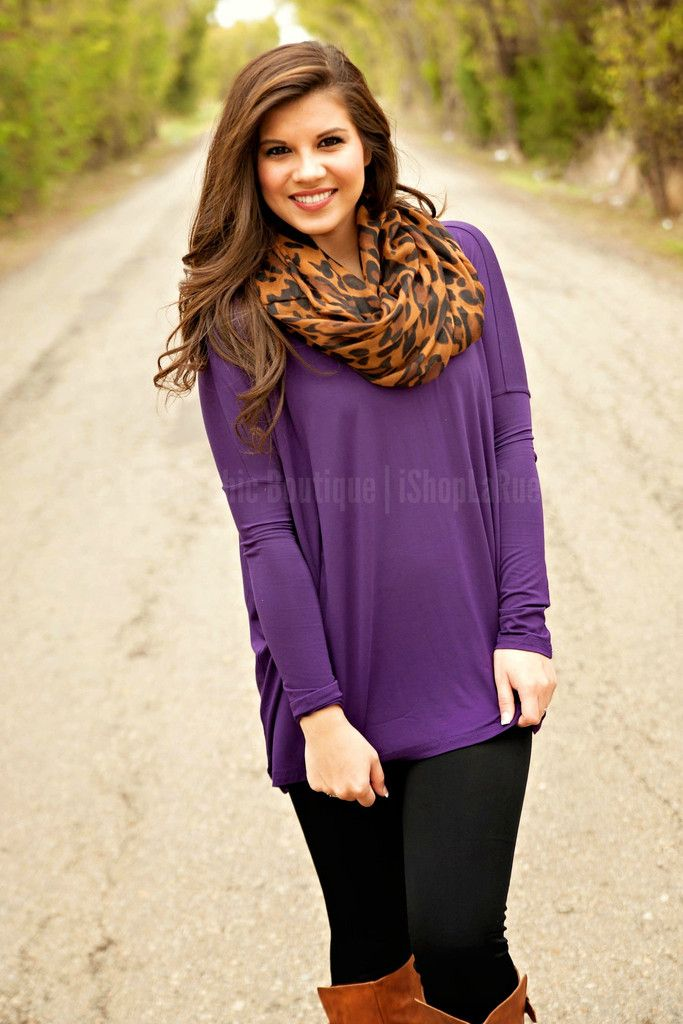 The LaRue Crew (along with a million Pinterest fans) are LOVING Piko tops!!! They are comfy-cozy, yet still chic and stylish!! Plus...they are a great fit for all sizes!! With this over-sized knit Piko top is super soft and looks great on everyone!! Perfect with skinnys, shorts and fun chunky accessories. Material: Bamboo-Spandex Knit Due to the slouchy, oversized fit of the Piko tops we recommend sizing down. Model is wearing a small (she normally wears a 2).