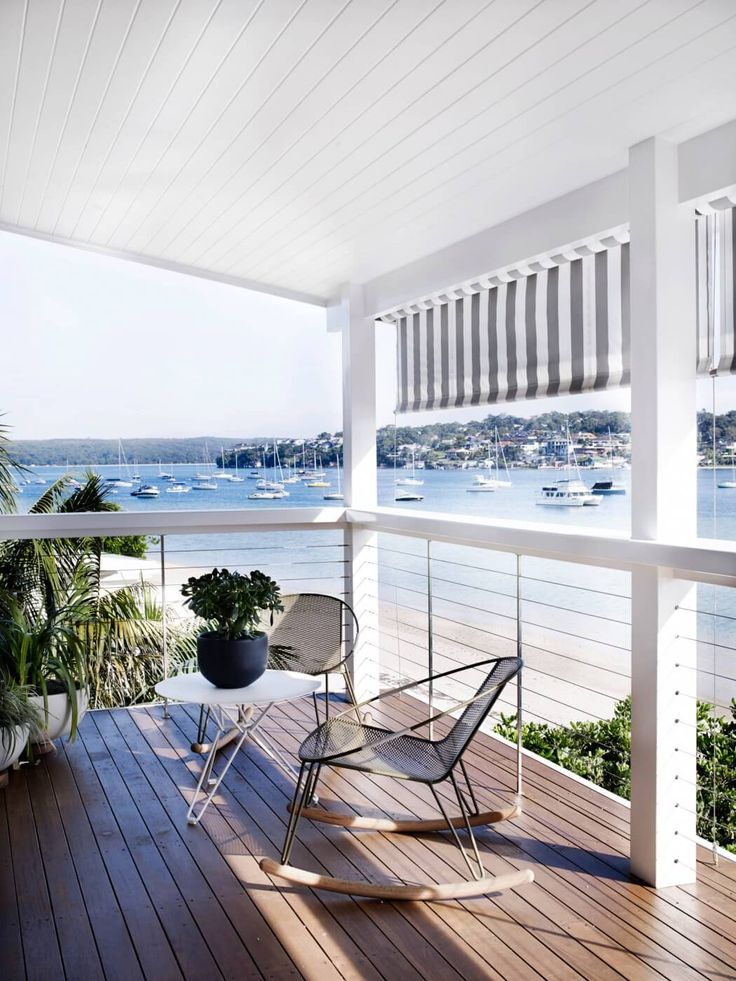 Awning, outdoor furniture.. If only I had that view Cronulla Residence by Amber Road | HomeAdore