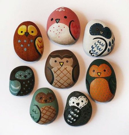 Little owl rocks - I have to try this.  :)