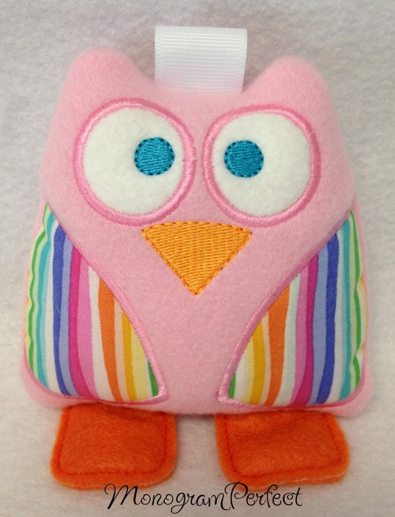 Mini Owl Baby Rattle 4 x 4 by MonogramPerfect on Etsy, $8.99Minis Dog Qu, Baby Rattle, Owls Baby, Minis Owls