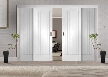 Easi-Slide White Room Divider Door System - Internal Room Dividers