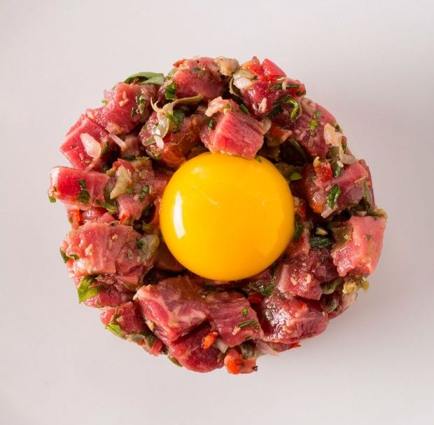 How to Make the Perfect Beef Tartare - Bon Appétit  http://www.bonappetit.com/test-kitchen/how-to/article/perfect-beef-tartare